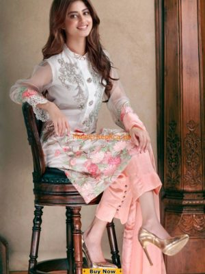 Agha Noore Embroidered Chiffon Master replica