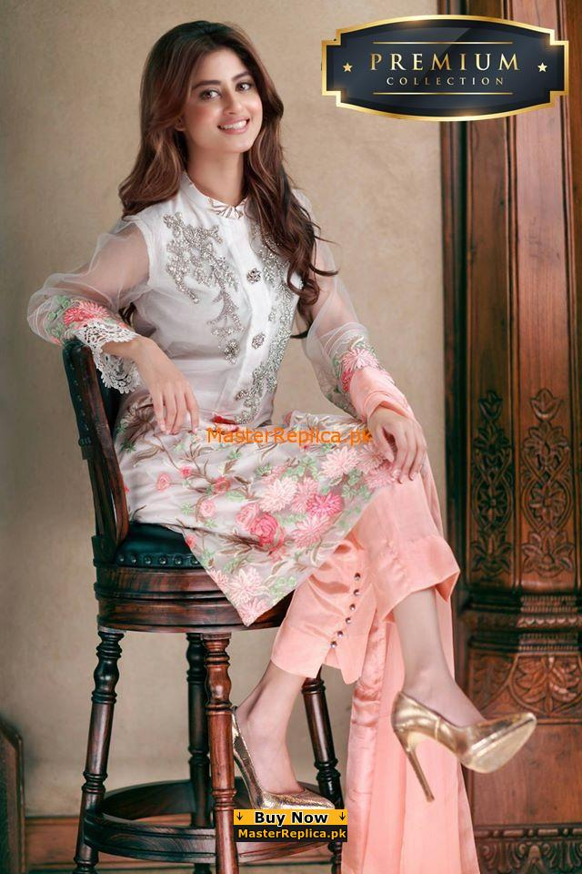 Agha Noor Chiffon Embroidered Replica