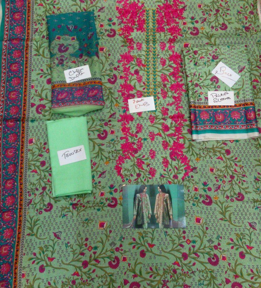 Khaadi Winter Collection 16703-B-Sea green replica pic