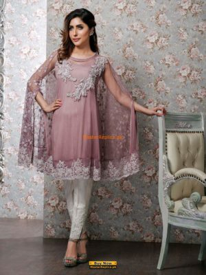 Zainab Chottani lilac-net-cape Replica