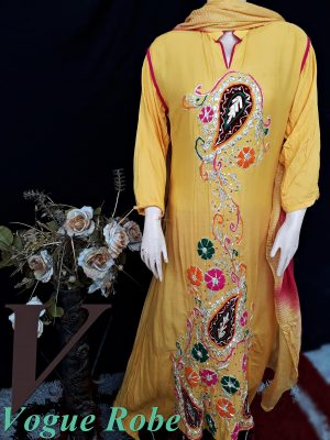 Vogue Robe Festive Collection - Yellow Diva