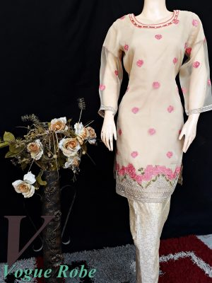 Vogue Robe Festive Collection - Beige Party