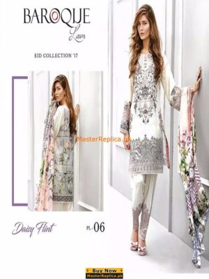 Baroque Lawn Latest Collection 2017 Replica