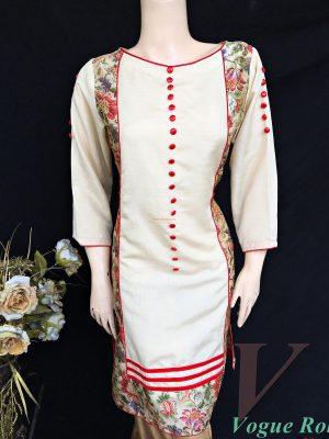 Vogue Robe Festive Collection - Floral Beige