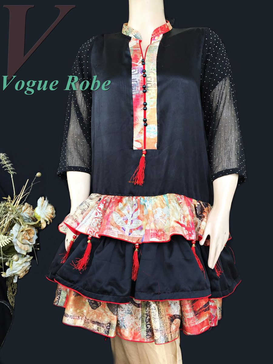 Vogue Robe Festive Collection - Black Ballerina