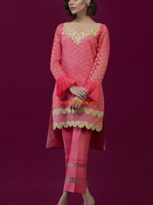 Nomi Ansari Think Pink Chiffon Collection Replica