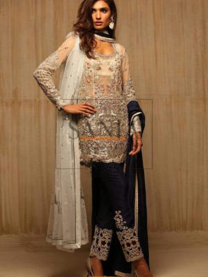 Sania Maskatiya Embroidered NET EMBROIDERED AND WORKED SHIRT S904