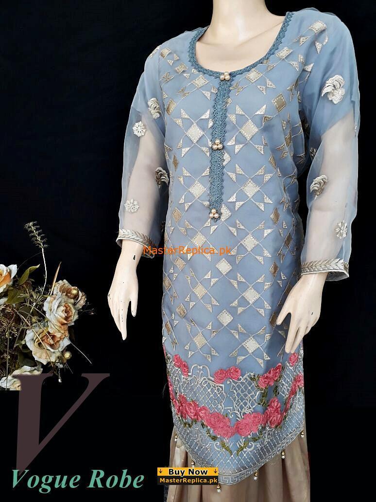 Vogue Robe FestiveCollection - Grey Elegance