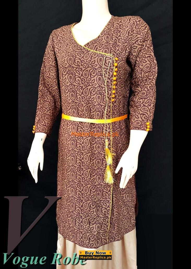 Vogue Robe Festive Collection - Brown Suit