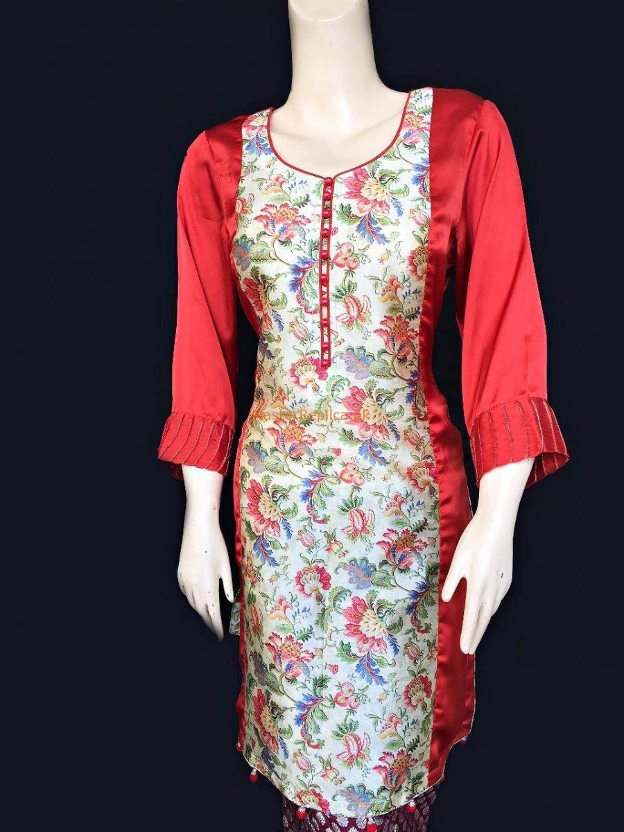 Vogue Robe Festive Collection - Floral Red
