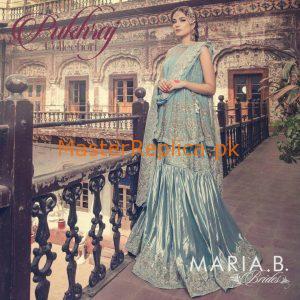 Maria B D10A Lawn Bridal Collection 2017 Replica