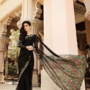 Maria B Black Saree bd-806