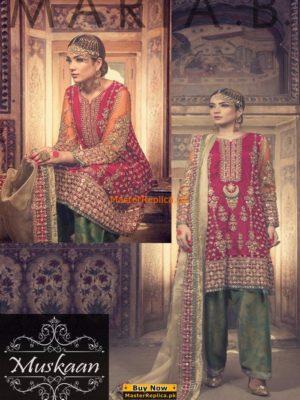 Maria B. Bridal Collection Ethnic Anarkali Salwar Kameez Replica