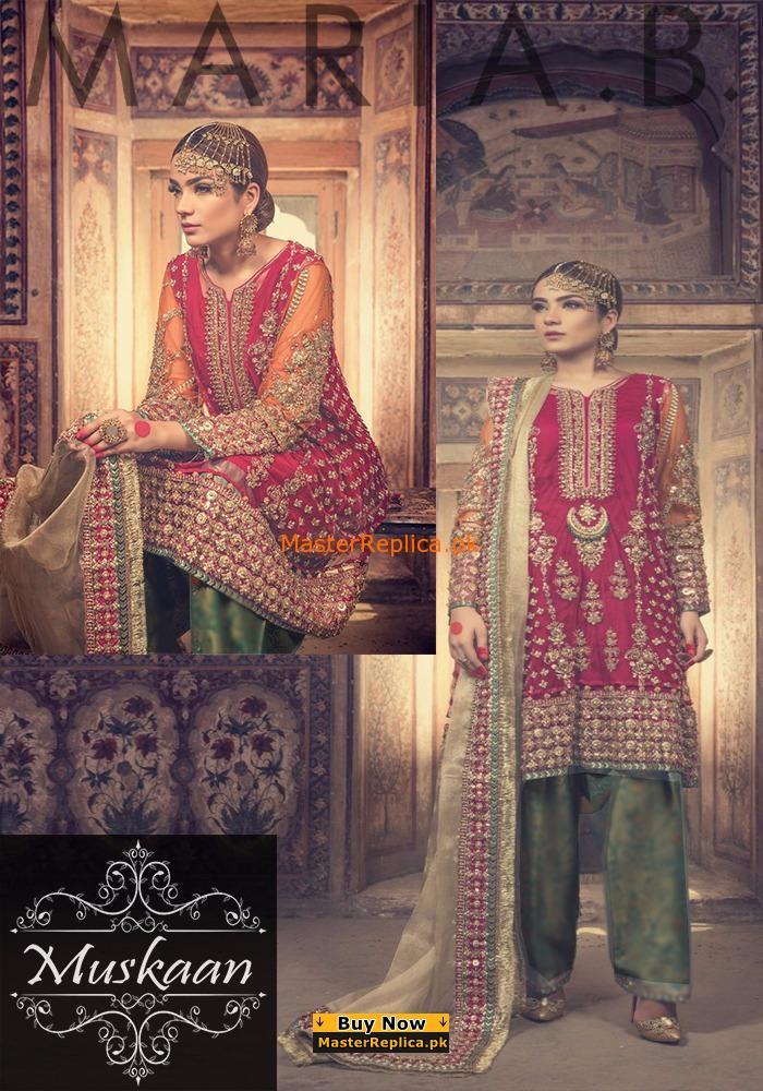 maria b bridal collection ethnic anarkali salwar kameez