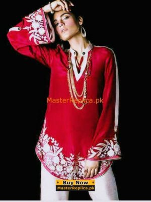 Zainab Chottani Silk Shirt Collection Replica