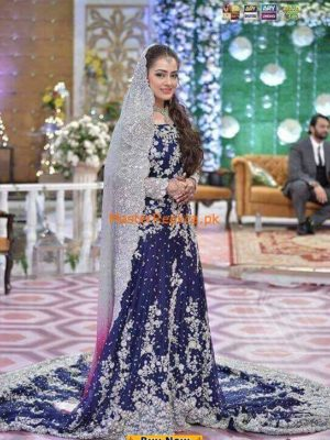 Zainab Chottani Bridal Chiffon Embroidered Collection Replica
