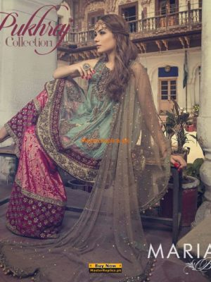 Maria.b Pukhraj Chiffon Embroidered Collection Replica