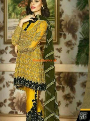 Asim Jofa AJC-1B Embroidered Chiffon Collection Replica