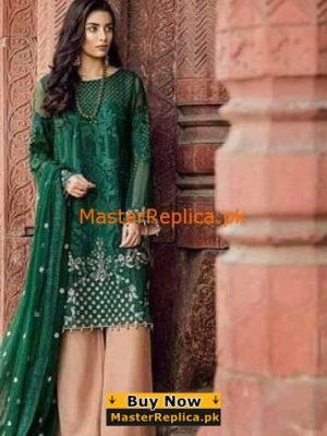 Iznik Embroidered Chiffon Wedding Collection Replica