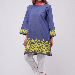 Khaadi Luxury Denim Shirt Replica