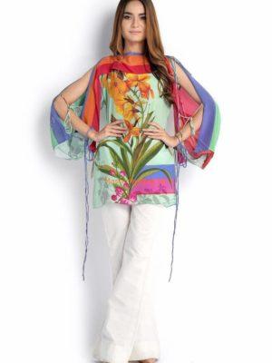 Sana Safinaz Digital Printed Silk Kurtis Replica
