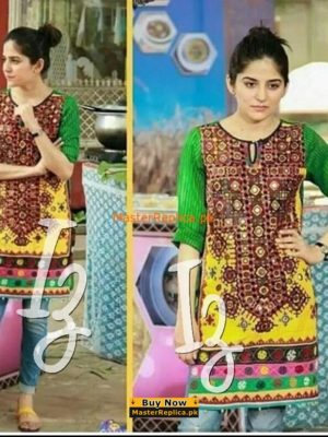 Sanam Baloch Latest Sindhi Style Dress Replica