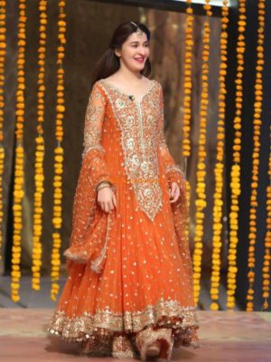 Shaista Lodhi Chiffon Wedding Collection Replica