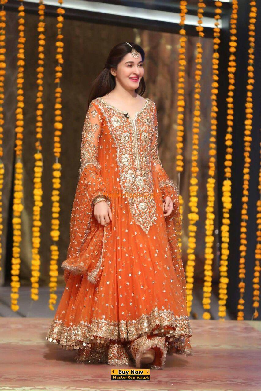Shaista Lodhi Chiffon Wedding Collection Replica