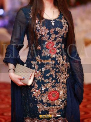 Aliza Waqar Latest Embroidered Chiffon Collection Replica