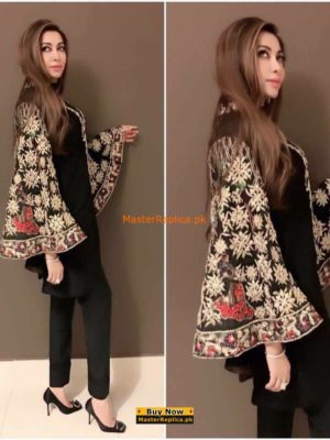 Hina Butt Latest Embroidered Velvet Collection Replica
