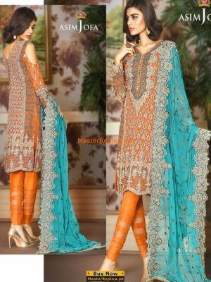 Asim Jofa Mysorie AJCLE-2 Embroidered Chiffon Collection Replica
