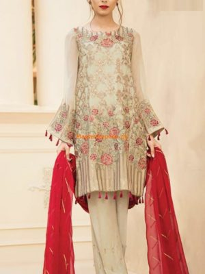 Baroque Luxury Embroidered Chiffon Collection Replica