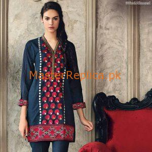 Denim Embroidered Jeans Shirt Collection Replica