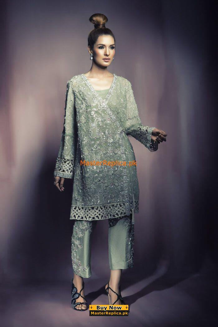 Elan Luxury Embroidered Chiffon Bridal Collection Replica
