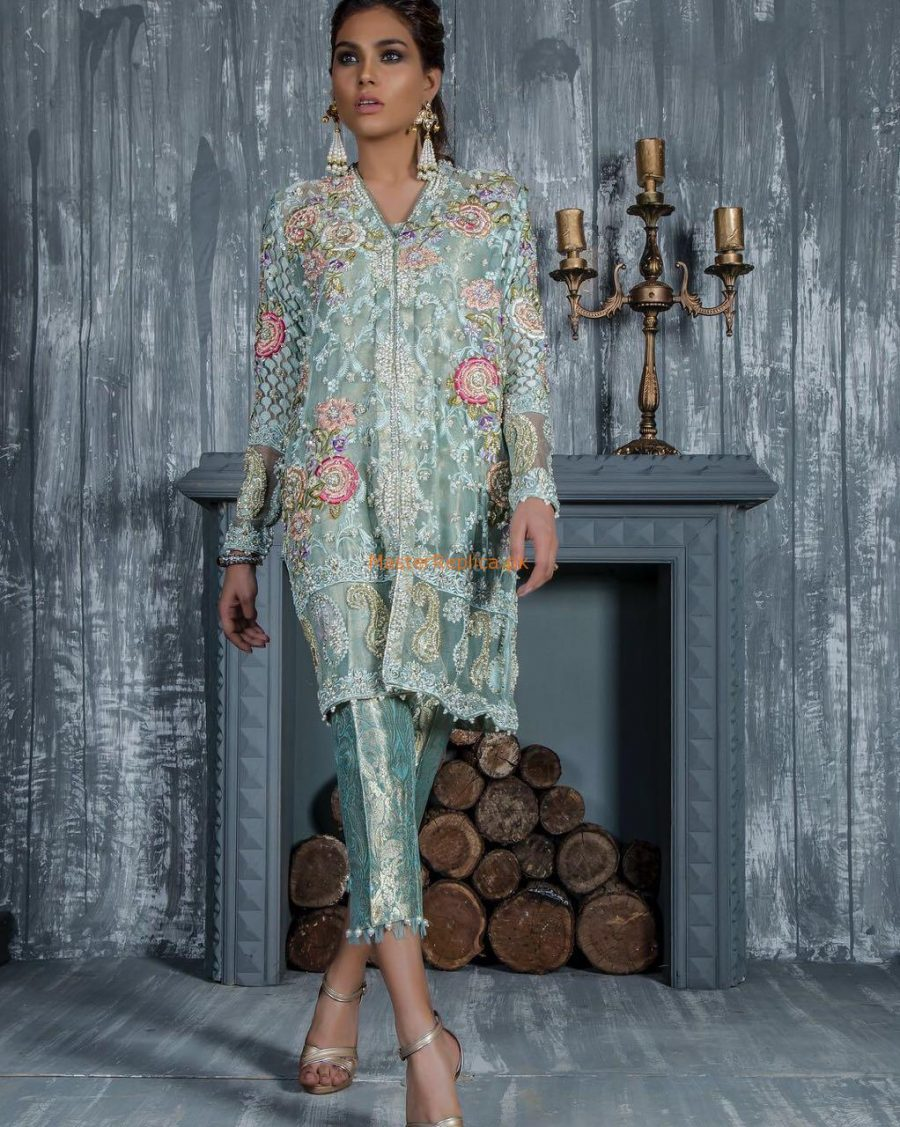 Elan Latest Embroidered Chiffon Party Wear Collection Replica