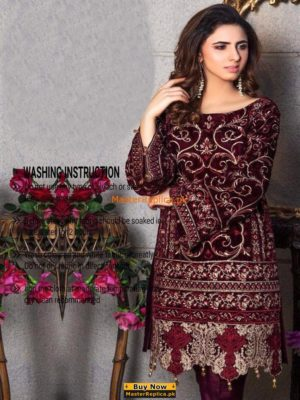 Gulaal Luxury Velvet Embroidered Collection Replica