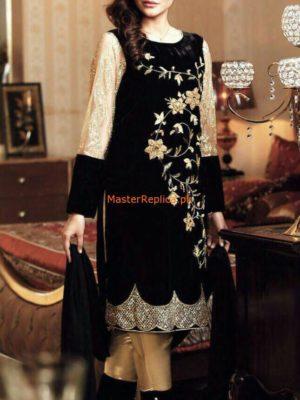 Gul Warun Latest Embroidered Velvet Collection Replica