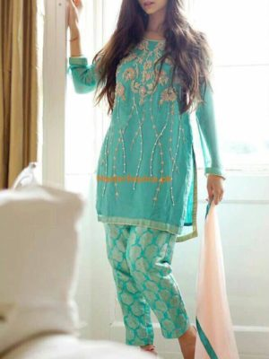 Gul Warun Latest Embroidered Chiffon Collection Replica
