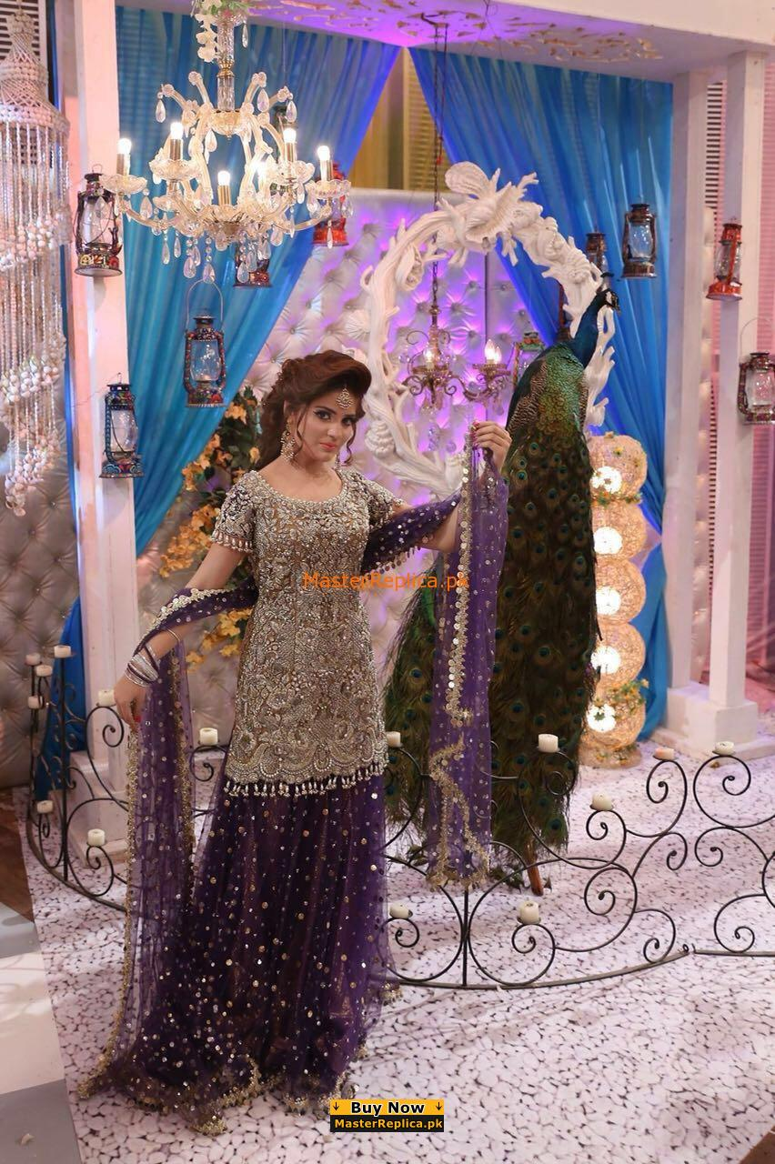 Kasheez Latest Embroidered Net Bridal Collection Replica