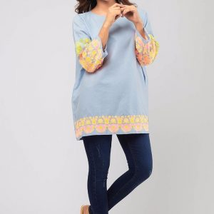 Khaadi Luxury Embroidered Denim Shirts Collection Replica