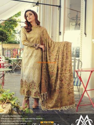 Maria B. Embroidered Khaddar Winter Collection Replica