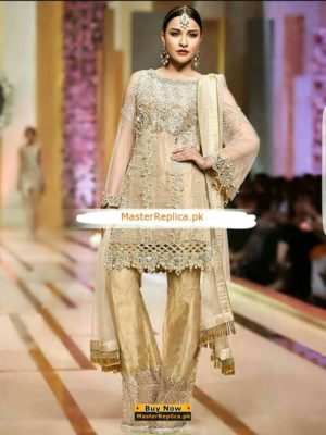 Nomi Ansari Luxury Embroidered Net Collection Replica