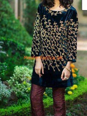Sana Abbas Luxury Embroideres Velvet Collection Replica