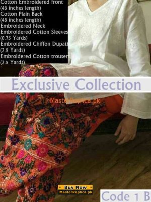 Exclusive Cotton Embroidered Collection 2017|Master Replica