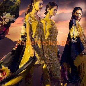 Sana Safinaz Latest Emboridered Chiffon Collection Replica