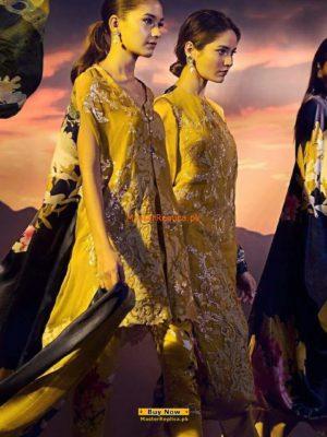 Sana Safinaz Latest Emboridered Chiffon Collection Replica