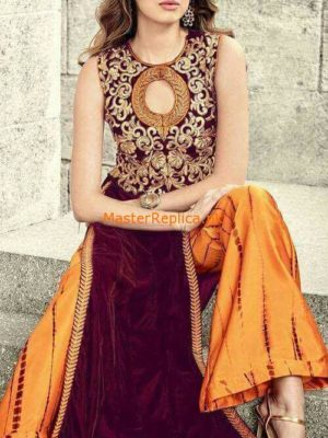 Sheeba Kapadia Latest Embroidered Velvet Collection Replica