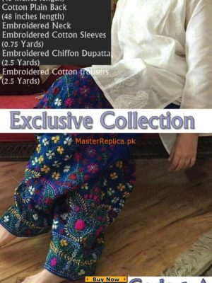 Exclusive Cotton Embroidered Collection 2017