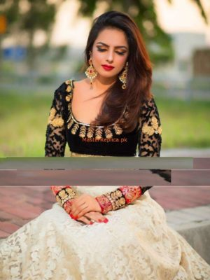Umairish Luxury Embroidered Velvet Bridal Collection Replica