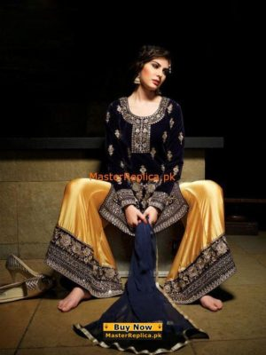 Zainab Chottani Luxury Embroidered Velvet Collection Replica